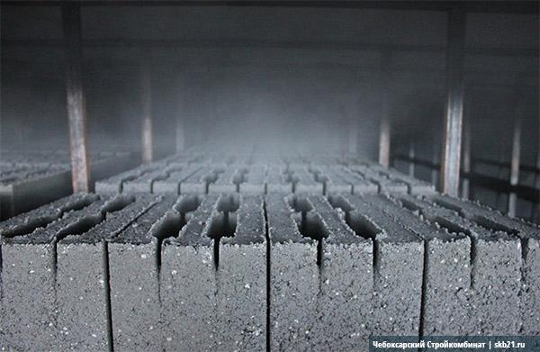 Пропарка керамзитобетонных блоков