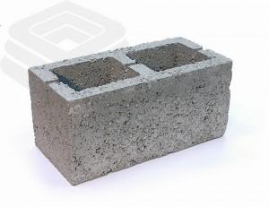 Двухпустотный керамзитобетонный блок