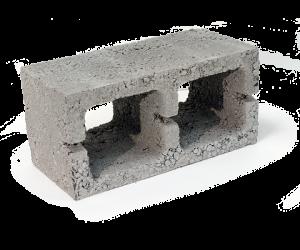 Сквозной вентиляционный керамзитобетонный блок